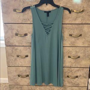 Forever 21 Long Tank or Mini Dress Green